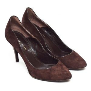 Elie Tahari Heels Shoes Womens 7.5 US Brown Suede